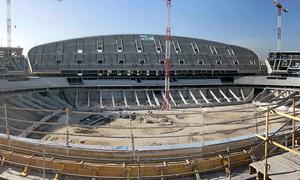 Nuevo estadio. Panorámica general desde la grada alta del lateral este