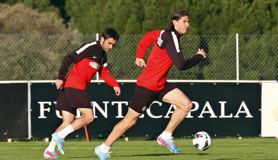Filipe y Adrián se entrenan en la Ciudad Deportiva de Majadahonda