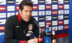 Simeone comparece en rueda de prensa en Majadahonda antes del partido contra el Valencia