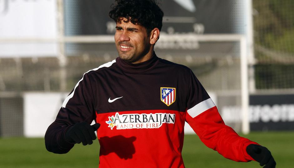 Diego Costa se incorporó al trabajo de grupo el miércoles 27 tras volver de jugar con Brasil