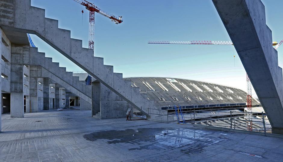 Nuevo Estadio. Avance de las obras en el mes de enero
