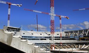 Nuevo estadio. Vista general desde grada media.