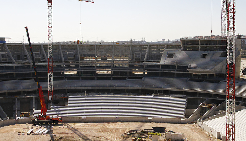 Nuevo Estadio. Vista general del fondo sur