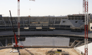 Nuevo Estadio. Vista general del fondo sur