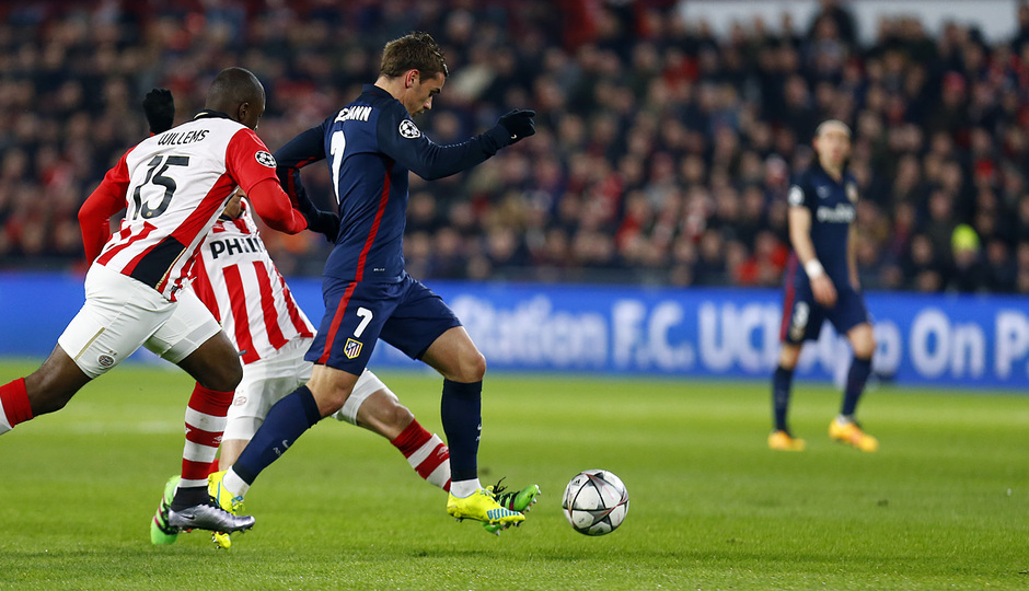 Temp. 2015-2016 | PSV - Atlético de Madrid | Griezmann