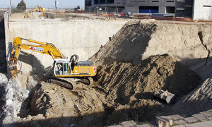 Nuevo estadio. Apertura del muro perimetral norte para construcción de túnel para afición visitante