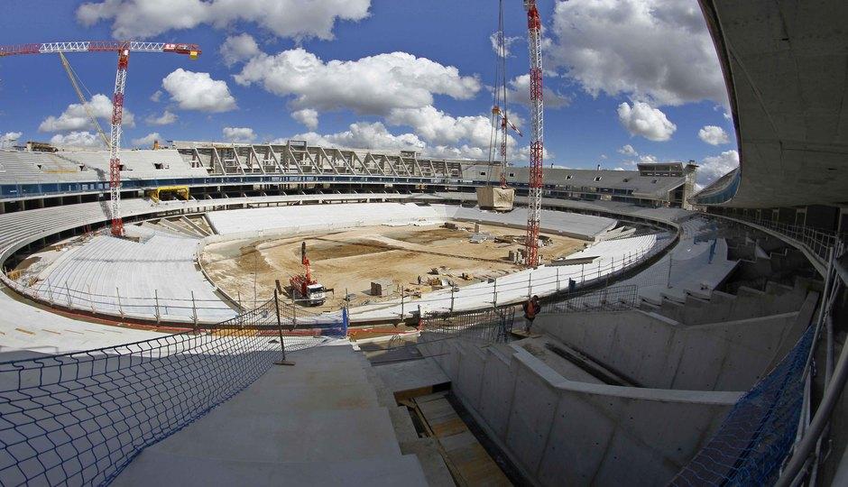 Nuevo estadio. Vista general desde el córner noroeste de la grada media