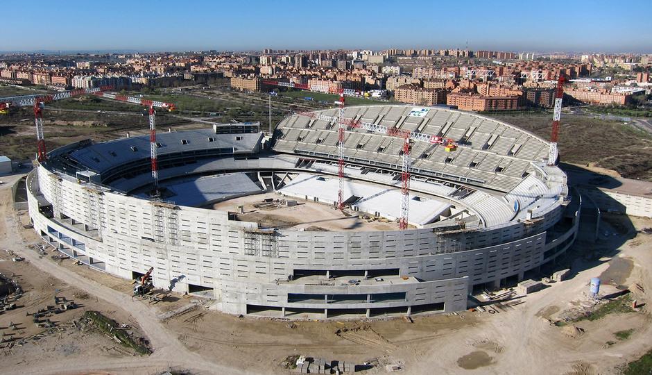 Nuevo estadio. Vista aérea desde el noreste