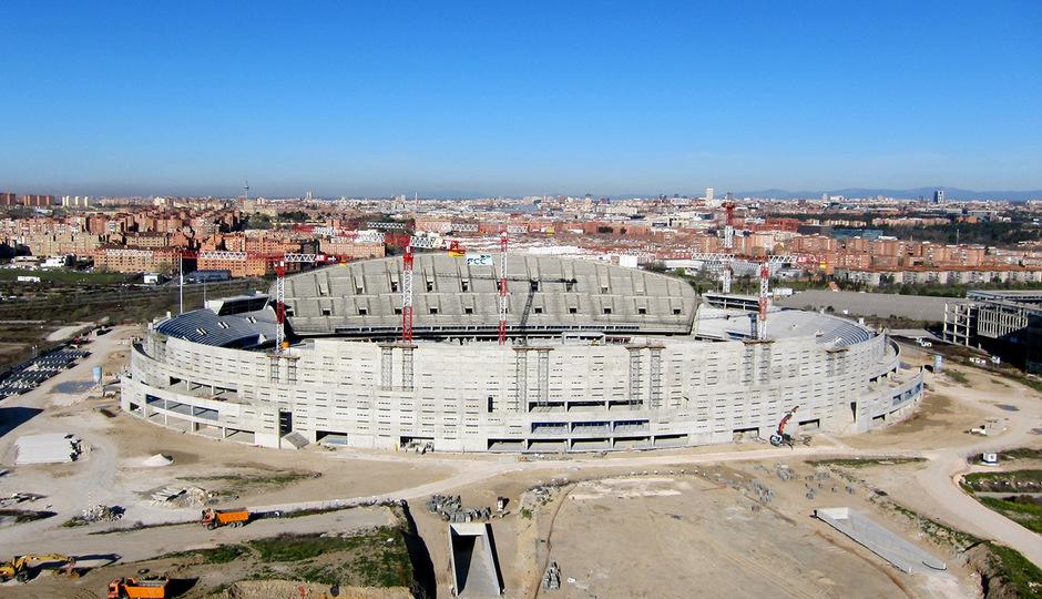 Nuevo estadio. Vista aérea desde el este