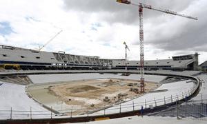 Nuevo estadio. Panorámica general desde el córner noroeste