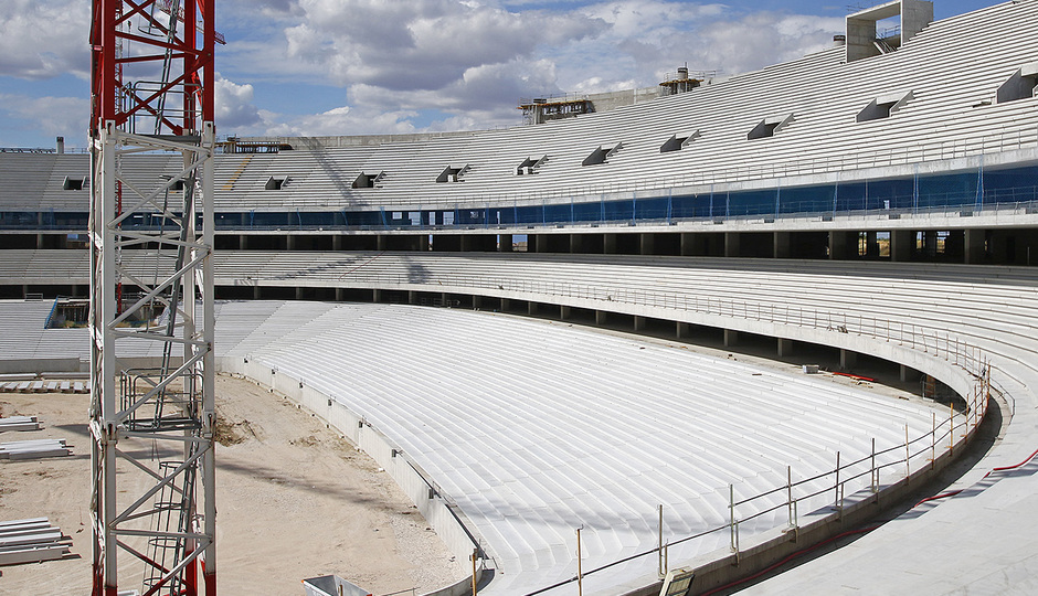 Temporada 2015-2016. Avance de las obras en el Nuevo Estadio. 17/06/2016.