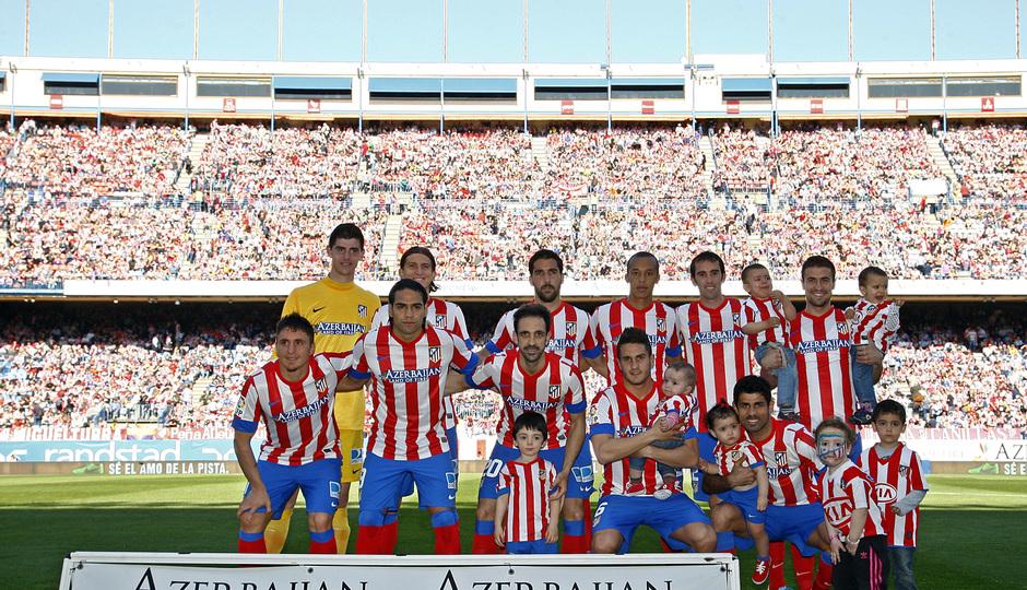 Temporada 12/13. Partido Atlético de Madrid Granada.Once