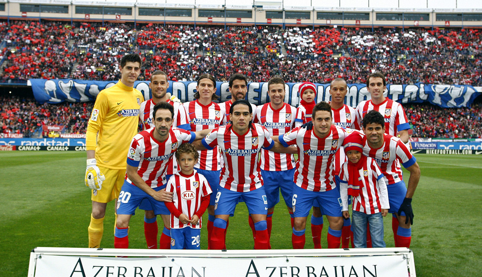 Temporada 12/13. Partido Atlético de Madrid Real Madrid. Once