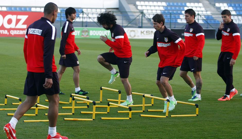 El Atlético, en las instalaciones del Bakú FC
