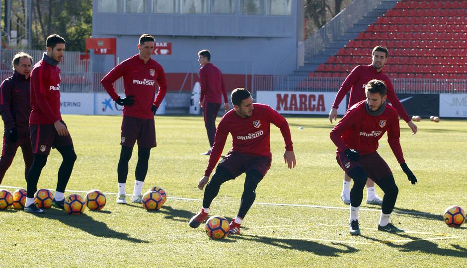 Temporada 2016-2017. Entrenamiento en la ciudad deportiva Wanda Atlético de Madrid 06_10_2017. Koke.