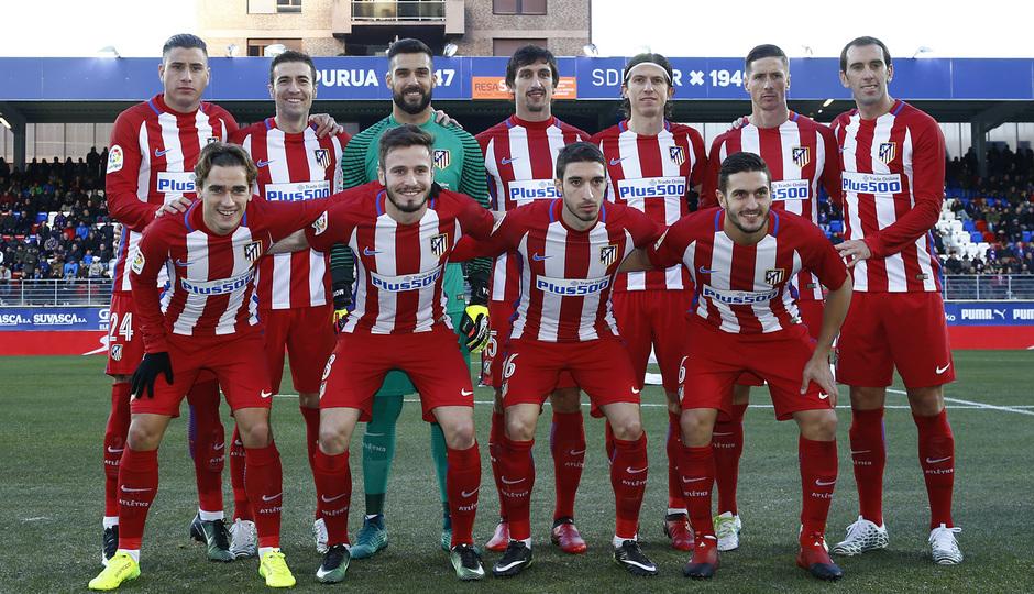 Temp. 16/17   Eibar - Atlético de Madrid   Once