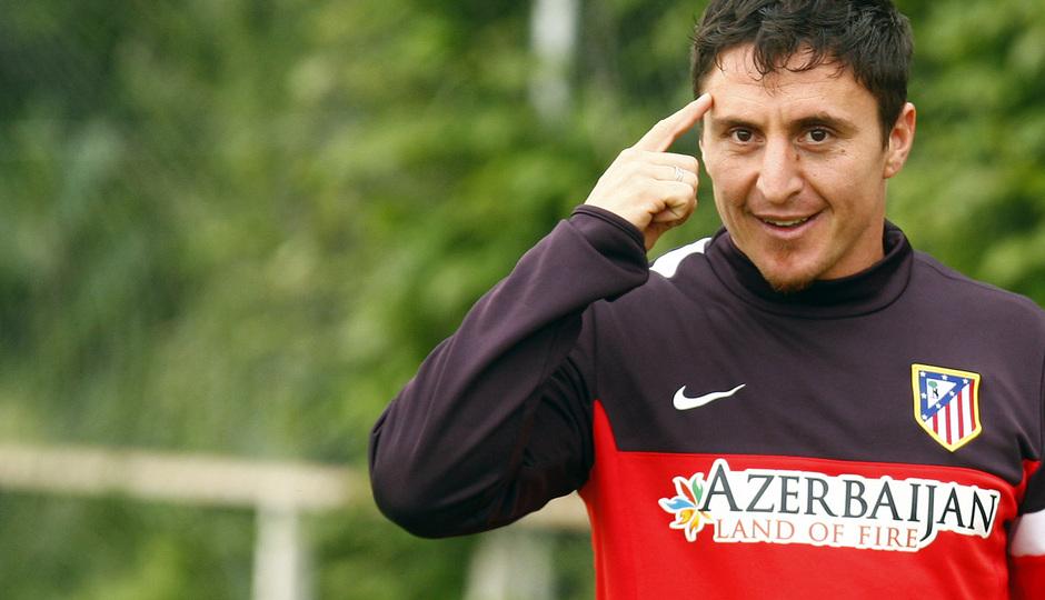 Cristian Rodríguez durante un entrenamiento
