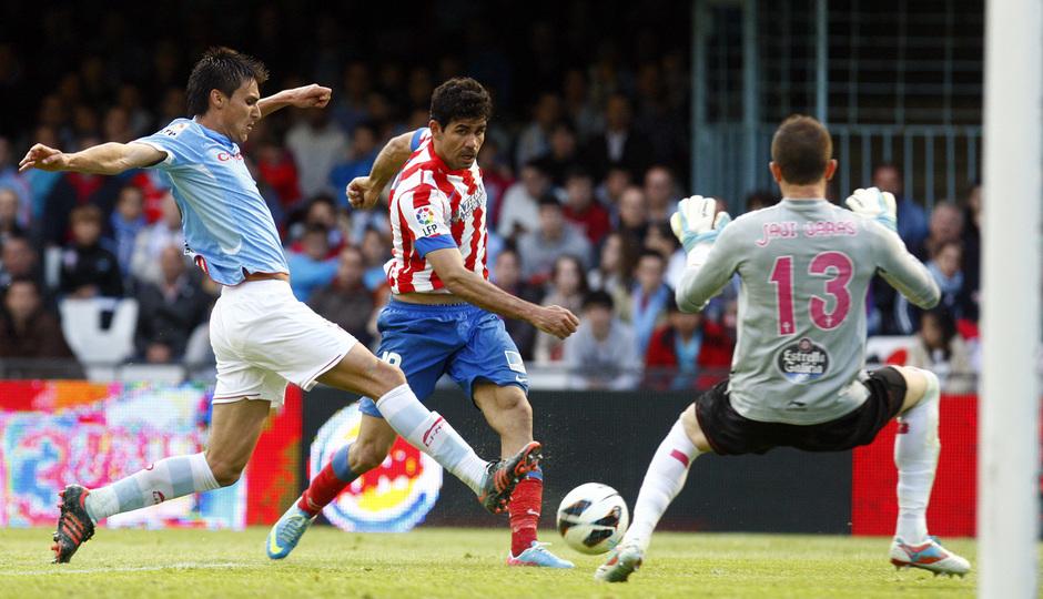 Temporada 12/13. RC Celta de Vigo vs. Atlético de Madrid Diego Costa