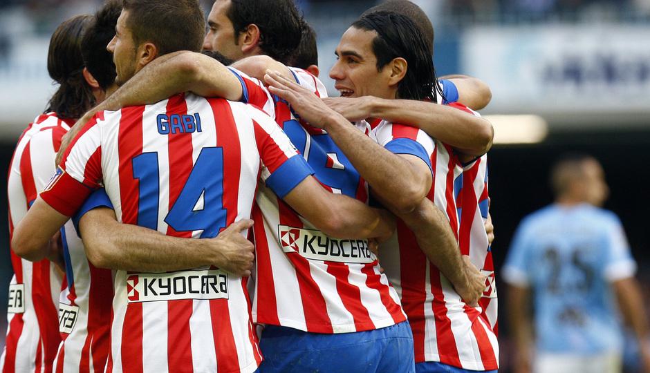 Temporada 12/13. RC Celta de Vigo vs. Atlético de Madrid equipo