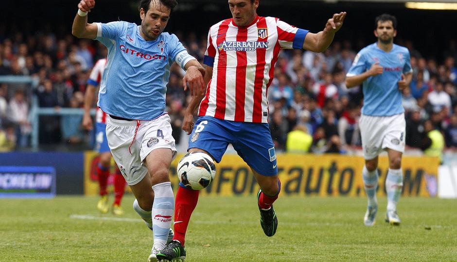 Temporada 12/13. RC Celta de Vigo vs. Atlético de Madrid Koke