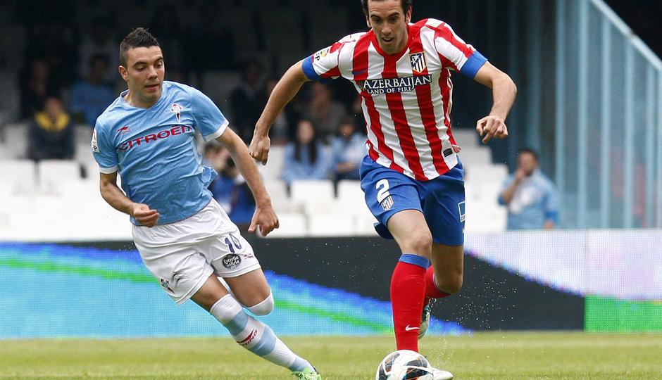 Temporada 12/13. RC Celta de Vigo vs. Atlético de Madrid Godín