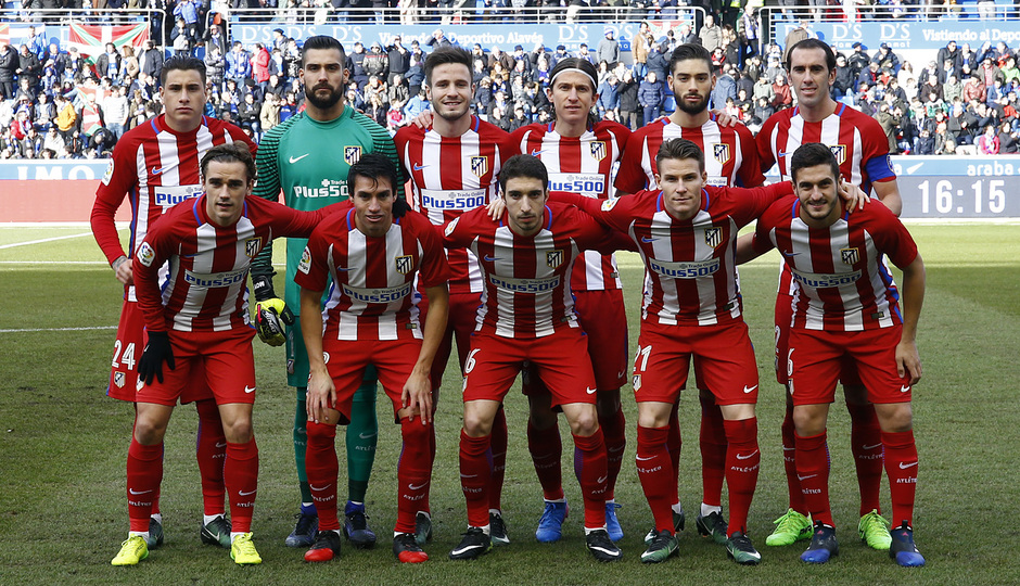 Temp. 16/17 | Alavés - Atlético de Madrid | Once