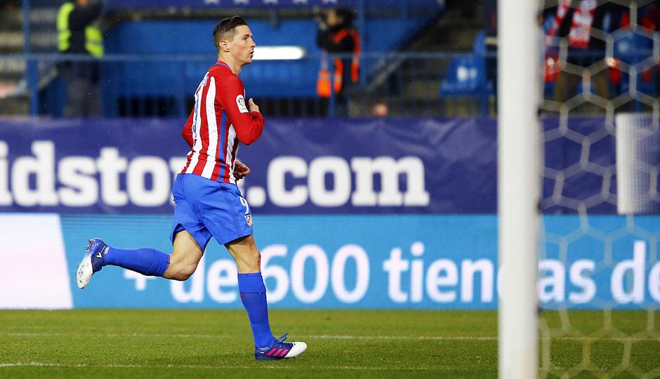 Temp. 16/17 | Atlético de Madrid - Celta | Fernando Torres. Celebración