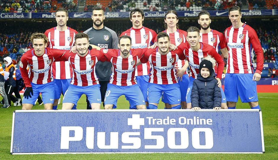 Temp. 16/17   Atlético de Madrid - Celta   Once
