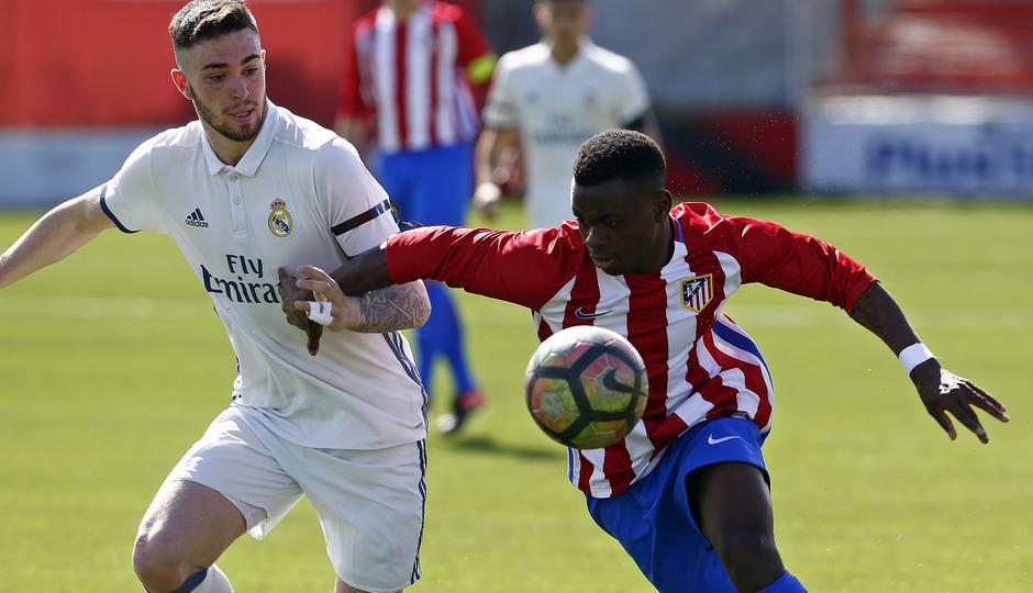 Temporada 2016-2017. Partido entre el Atlético de Madrid Juvenil División de Honor contra el Real Madrid. 04_03_2017. Salomón.