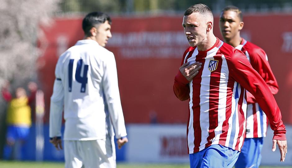 Temporada 2016-2017. Partido entre el Atlético de Madrid Juvenil División de Honor contra el Real Madrid. 04_03_2017. Mikel Carro.