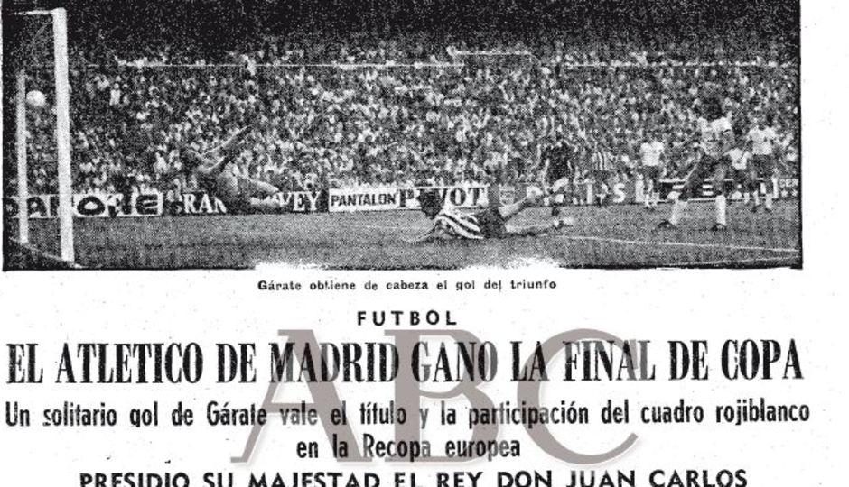 TEMPORADA 1975/1976. Quinta Copa del Atlético de Madrid