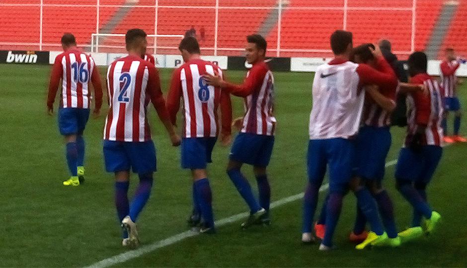 Temp. 16/17 | Atlético de Madrid B - Villanueva del Pardillo | Celebración