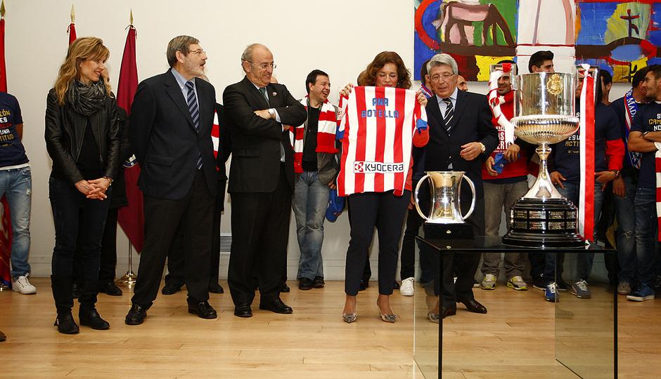 Visita al Ayuntamiento tras la consecución de la Copa del Rey