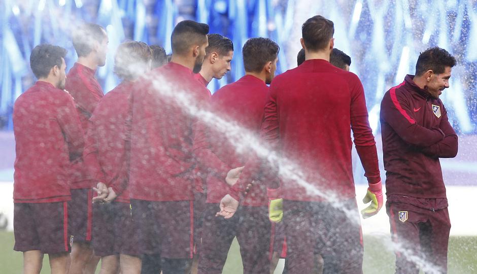 Temp. 2016/2017. Entrenamiento Liga de Campeones Leicester