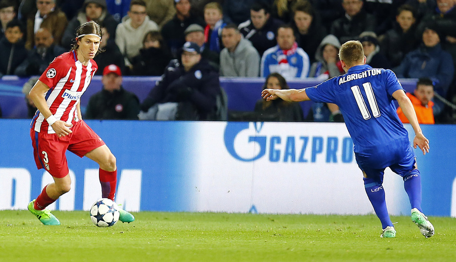 Temp. 16/17 | Leicester - Atlético de Madrid | Filipe Luis