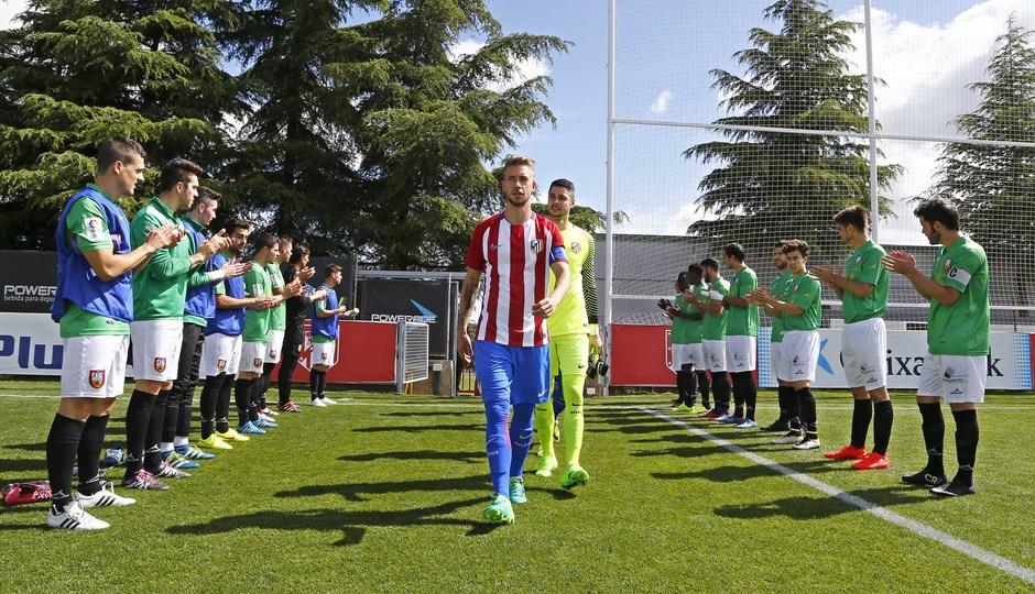 Temporada 2016-2017. Partido entre el Atlético de Madrid B contra el Alcobendas Levitt. 14-05-2017.