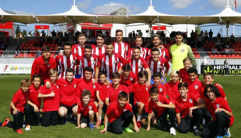 Temporada 2016-2017. Partido entre el Atlético de Madrid B contra el Alcobendas Levitt. 14-05-2017. Once.