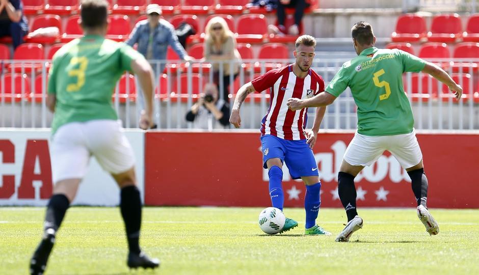 Temporada 2016-2017. Partido entre el Atlético de Madrid B contra el Alcobendas Levitt. 14-05-2017. Roberto.