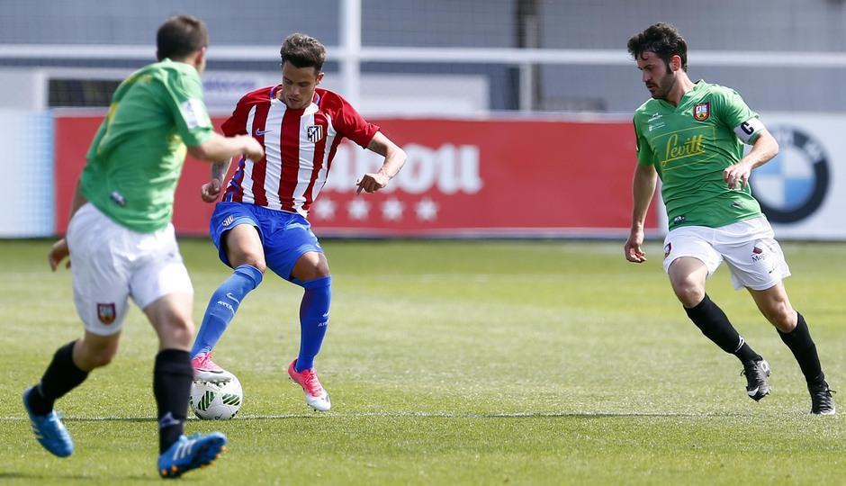 Temporada 2016-2017. Partido entre el Atlético de Madrid B contra el Alcobendas Levitt. 14-05-2017. Juan Moreno.