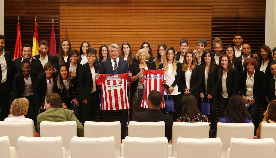 Temp. 16/17 | Recepción Atlético de Madrid Femenino Carmena Ayuntamiento Madrid