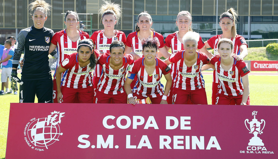 Temporada 2016-17.Copa de la Reina. Atlético de Madrid - Barcelona. Once