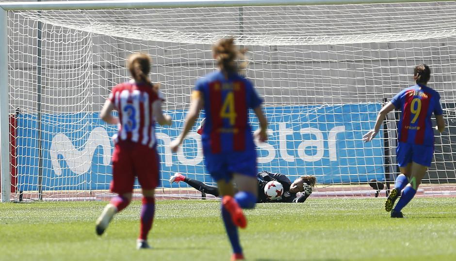 Temporada 2016-17.Copa de la Reina. Atlético de Madrid - Barcelona. Lola Gallardo