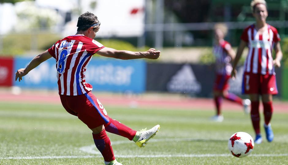 Temporada 2016-17.Copa de la Reina. Atlético de Madrid - Barcelona. Gol de Sonia