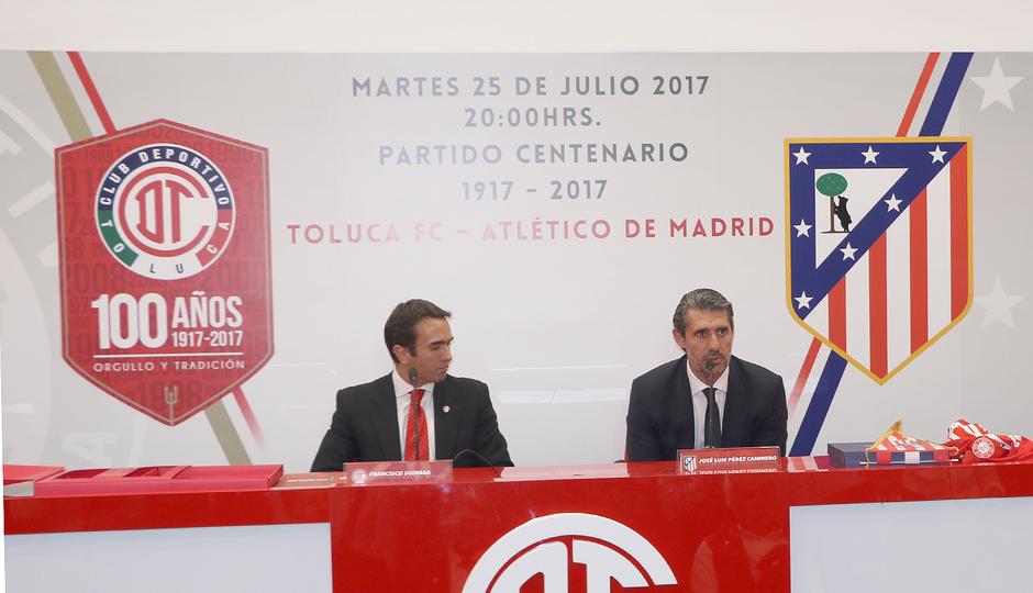Presentación partido Toluca-Atlético de Madrid