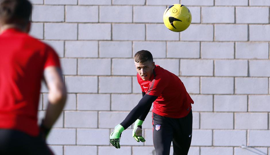 Temp. 17-18 | Primer entrenamiento de la temporada del Atlético de Madrid B | Carlos Marín