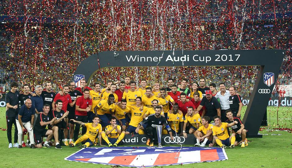 Audi Cup 2017 | Liverpool - Atlético de Madrid | Celebración Copa