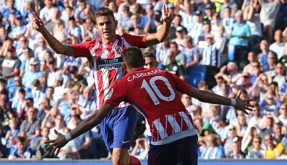 Amistoso | Brighton - Atlético de Madrid. Lucas