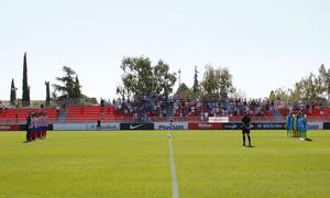 Segunda B | Atlético de Madrid B - Gimnástica Segoviana. | Minuto de silencio