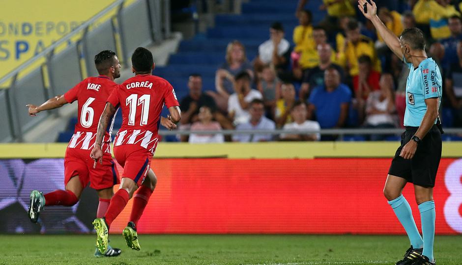 Temp. 17-18 | Las Palmas - Atlético de Madrid | Celebración