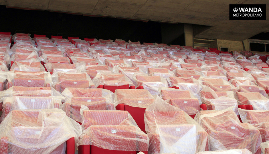 Avance de las obras en el Wanda Metropolitano. 01/09/2017